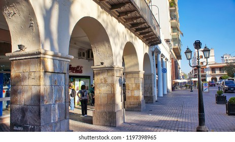 Salta, Argentina-17 June, 2017: Central Salta Plaza of 9 of July (Plaza 9 De Julio)