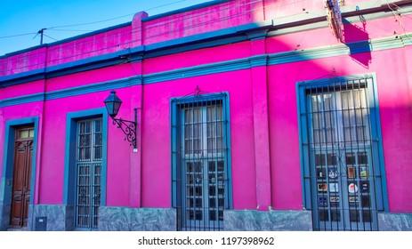 Salta, Argentina-17 June, 2017: Scenic Salta streets in historic city center