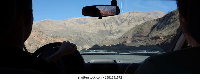 salta/argentina - sep.22.18 - Roadtrip into the mountains - From inside car - salta, argentina