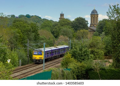 Saltaire, Yorkshire, England -  05/24/2019 plans for high speed north-south train, HS2, have split opinion with many northerners  thinking the money would be better spent improving current old stock