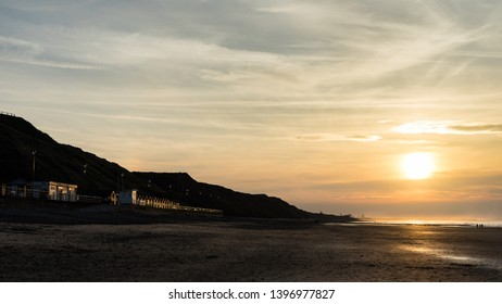 Saltburn, Cleveland / England May 13th 2019 : Saltburn at sunset.  The pier at Saltburn has just recently celebrated its 150th year.