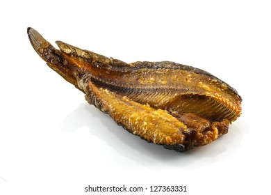 Salted fish isolated on the white background