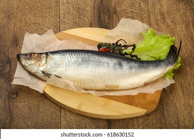 Salted Herring fish with pepper and spices