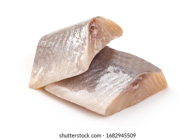 Salted herring, isolated on white background.