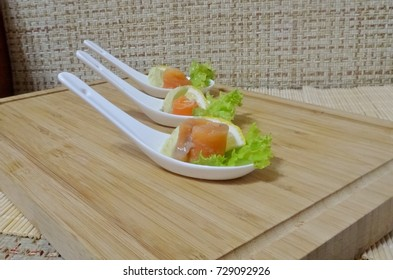 Salted salmon with avocado