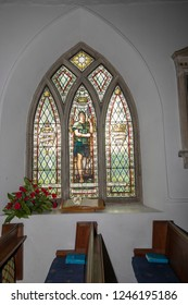 Saltford, Bath UK, 25 November 2018: The interior of St Marys Church Saltford,
