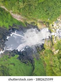 Salto Del Tequendama (Soacha, Cundinamarca) drone view - impressive waterfalls