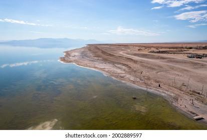 Salton sea beach near Bombay Beach in california