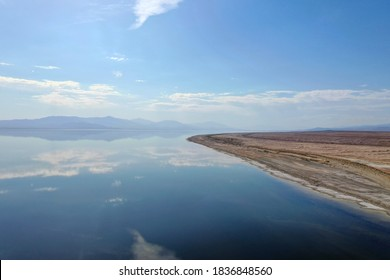 The Salton Sea - a shallow, saline, endorheic rift lake on the San Andreas Fault at the southern end of the U.S. state of California.
