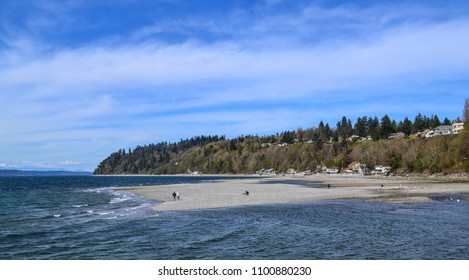 Saltwater State Park in Des Moines, Washington near Seattle, Tacoma and the Puget Sound. Pacific Northwest natural beauty invites you outdoors to hike and explore nature.
