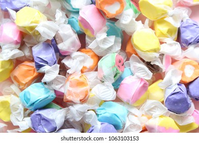 Saltwater taffy full frame background.