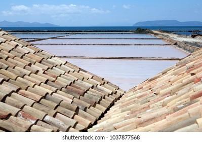 Saltwork in Sicily. Trapani and Marsala