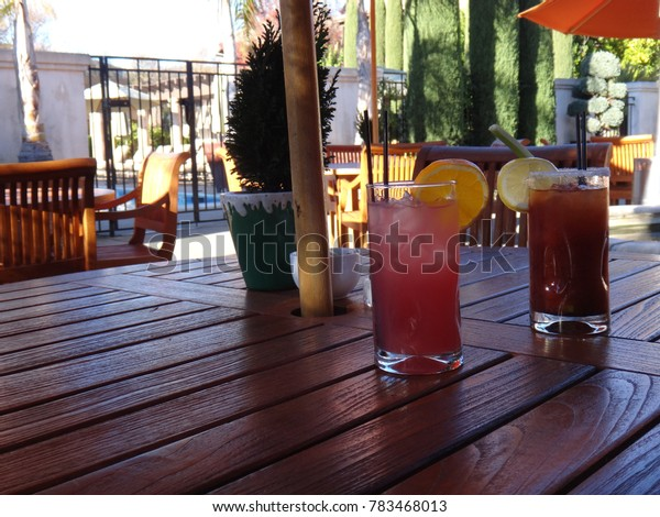 Salty Dog and Bloody Mary on Summer Day