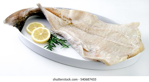Salty dry fish with garlic and oregano.