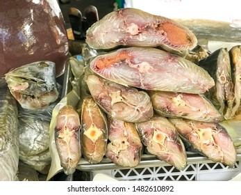 Salty Fish Made From King Mackerel Fish Preservation Of Food With Dry Edible Salt