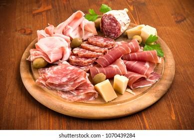 Salumi, Ham and Cheese Plate, Italian Cuisine