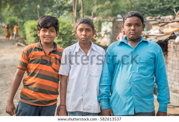SALUNKWADI, INDIA - November 14, 2016: People daily lifestyle in rural village Salunkwadi, Ambajogai, Beed, Maharashtra, India, South East Asia.