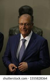 SALVADOR, BAHIA / BRAZIL - June 7, 2018: Geraldo Alckmin, former governor of São Paulo during an appointment in Salvador (BA) (SHUTTERSTOCK / Joa Souza).