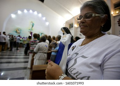 salvador bahia / brazil - march 13, 2017: Mass honoring in memory of the 25 years of death Sister Dulce. The event takes place at the Shrine of Blessed Dulce of the Poor.