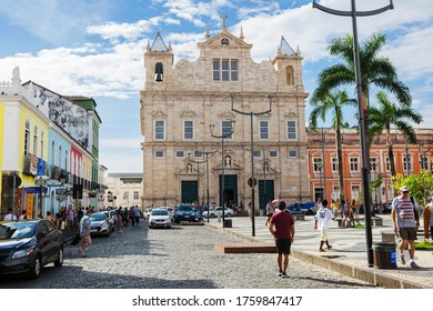 Salvador, Brazil, 03/08/2020, Cathedral Basilica Of El Salvador.  The Cathedral Basilica (1657-1672) is located on the largest square of the historical center, considered one of the main landmarks...