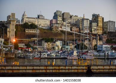 Salvador, Brazil - 3 february 2019: the port of Salvador Bahia on Brazil