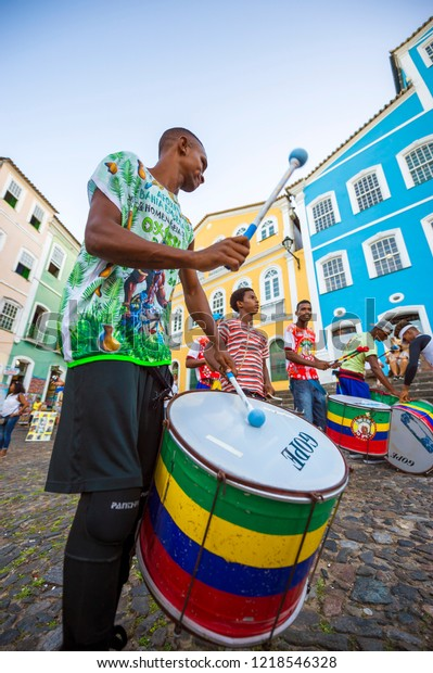 Salvador Brazil February 2018 Troupe Young Stock Photo (Edit