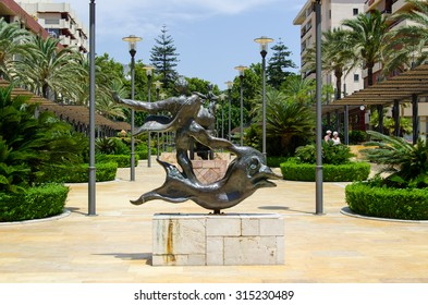 Salvador Dali sculpture pictured on July, 2015, in Marbella Spain.