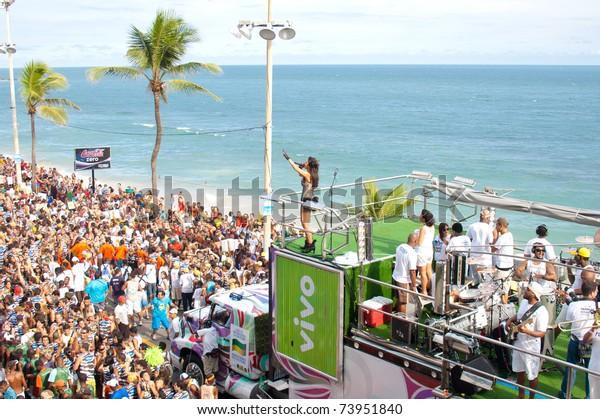 SALVADOR - FEB 17: Ivete Sangalo in Carnival of Bahia, on February 17, 2007 in Salvador, Bahia - Brazil