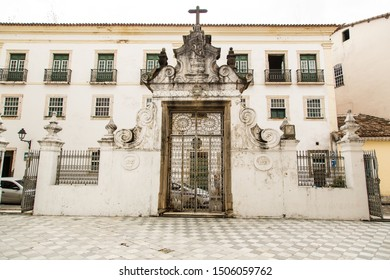 Salvador/Bahia/Brazil - JAN 13 2016: Partial View Church of the Third Secular Order of San Francisco