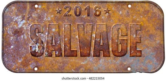 salvage old vintage license plate