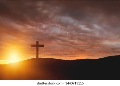 salvation concept:The Cross symbol of christian and Jesus Christ          - Image