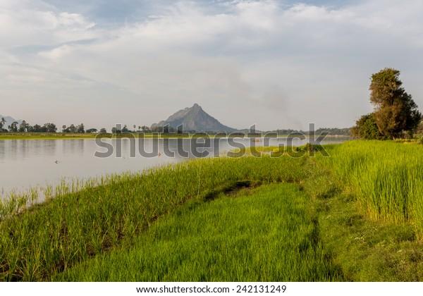 Salween river near Hpa-An, Myanmar