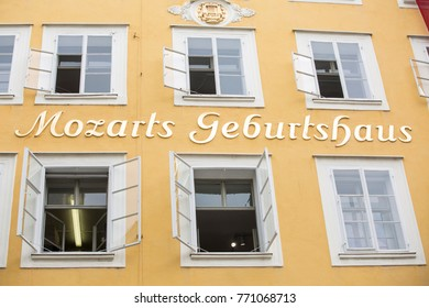 Salzburg, Austria -07/21/2017: Birthplace of Mozart (composer)
