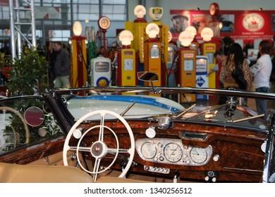 salzburg, austria, 20 oct 2007, classic expo, exhibiton for vintage cars and classic motorbikes