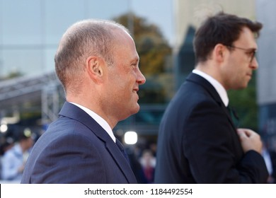 Salzburg, Austria 20th Sep. 2018. Prime Minister of Malta  Joseph Muscat arrives for an Informal meeting of the 28 heads of state or government.
