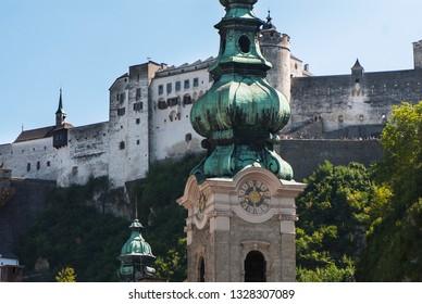 Salzburg Austria fortress cityscape