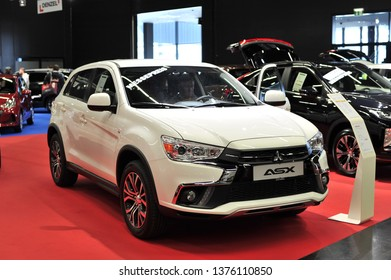 Salzburg, Austria . March 24 , 2019 : The new Mitsubishi ASX 2019  car presented at the at the Automesse Salzburg 2019