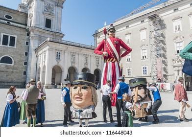 SALZBURG, AUSTRIA - MAY 26: Salzburger Dult Festzug parade celebration on May 26, 2012 in Salzburg, Austria.