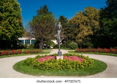 SALZBURG, AUSTRIA - SEPTEMBER 24: A statue at the Mirabell Palace on September 24, 2016 in Salzburg, Austria. The palace was built around 1606 and was purchased by the City of Salzburg in 1866.