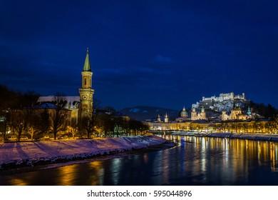 Salzburg at Night