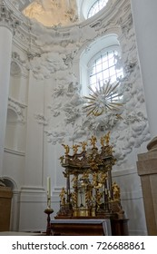 SALZBURG/AUSTRIA - SEPTEMBER 19 : Interior View of the Collegiate Church in Salzburg in Austria on September 19, 2017