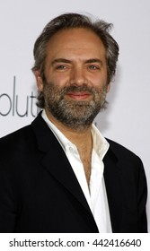 Sam Mendes at the World premiere of 'Revolutionary Road' held at the Mann Village Theater in Westwood, USA on August 15, 2008.