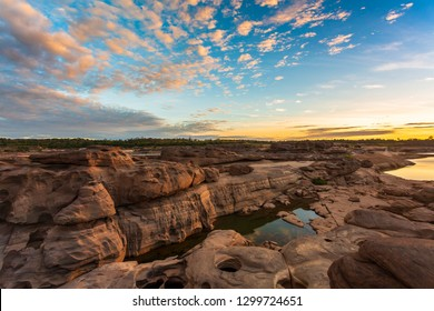 """Sam Pan Bok is call the """"Canyon of Thailand"""" located in Ubon Ratchathani, Thailand."""