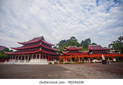 Sam Poo Kong Temple, an iconic and heritage landmark in Semarang, Central Java, Indonesia