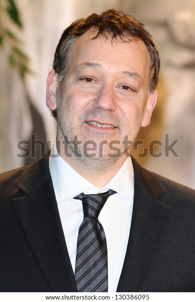 """Sam Raimi arrives for the premiere of """"Oz The Great And Powerful"""" at the Empire Leicester Square, London. 28/02/2013 Picture by: Steve Vas"""