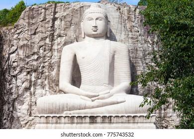 Samadhi Buddha Statue at the Rambadagalla Viharaya Temple near Kurunegala in Sri Lanka