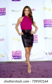 "Samantha Harris arrives at the taping of ""Jump, Jive & Thrive"" on Oct. 8, 2017 at UCLA's Pauley Pavilion in Los Angeles, CA."