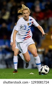Samantha Mewis (NC Courage) of USA in action during the friendly match between Spain and USA at Rico Perez Stadium in Alicante, Spain on January 22 2019.