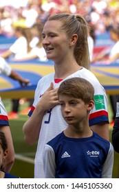 Samantha Mewis of USA during the FIFA Women's World Cup France 2019 Final football match USA vs Netherlands on 7 July 2019 Groupama Stadium Lyon France