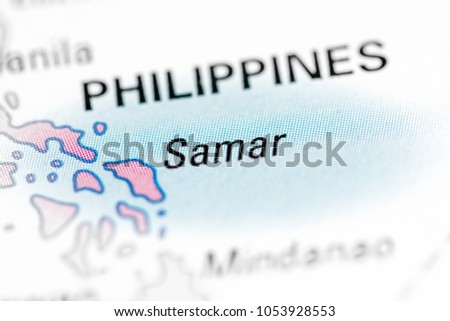 Samar Philippines On Map Stock Photo Edit Now 1053928553